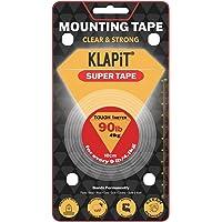 KLAPiT SUPER TAPE Tough 1 Meter Holds 90LB/41kg, Uses Enhanced Nano Technology CLEAR & STRONG Magic Improvement Double…