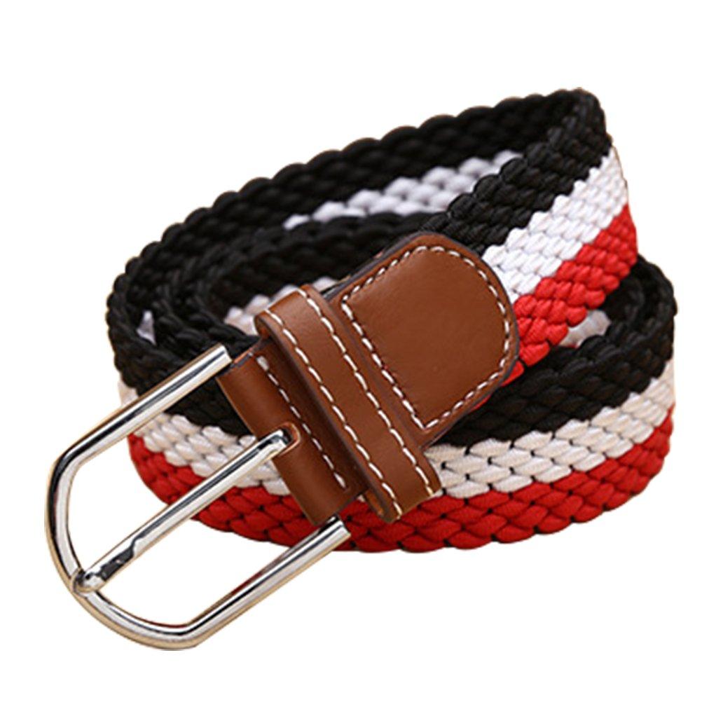 Fmeida Mens Belt Braided Stretch Belt Elastic Woven Belt with Buckle for Men