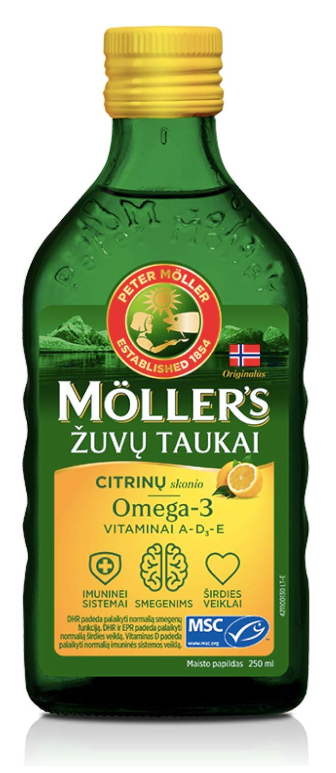 Moller's Fish Oil Omega-3 -Lemon Flavour- Baby Children Adults