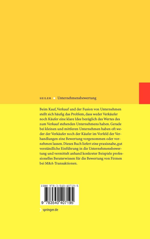 Unternehmensbewertung: Wertermittlung bei Kauf, Verkauf und Fusion von kleinen und mittleren Unternehmen (German Edition) by Springer