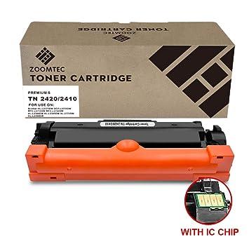 ZOOMTEC TN2420 TN2410 (con Chip) Cartucho De Tóner Negro ...