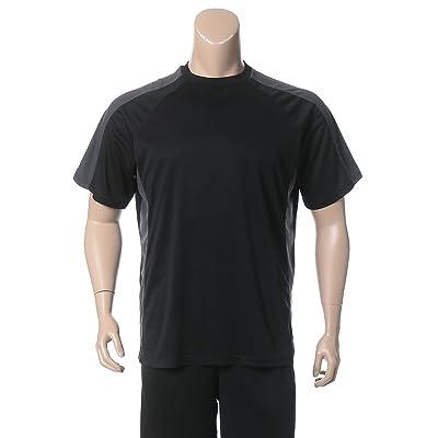 (ビーアンドティークラブ) B&T CLUB 大きいサイズ メンズ 吸汗速乾 UV対策 メッシュ切り替え 半袖 Tシャツ