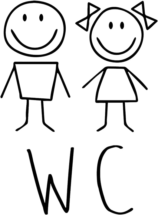 Schilder für die Toilette Junge Mädchen Türschilder WC Toilettentür Schild