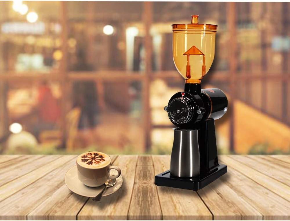 JIAWANSHUN 250g Automatic Coffee Burr Grinder Coffee Burr Mill Coffee Bean Grinder 110V, Black