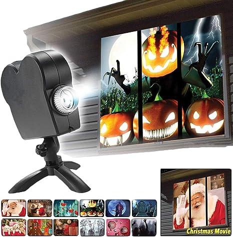 Amazon.com: Proyector LED de Halloween para decoración de ...