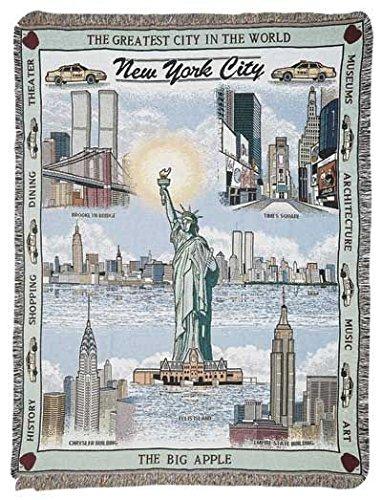 Simply New York City Tapestry Throw