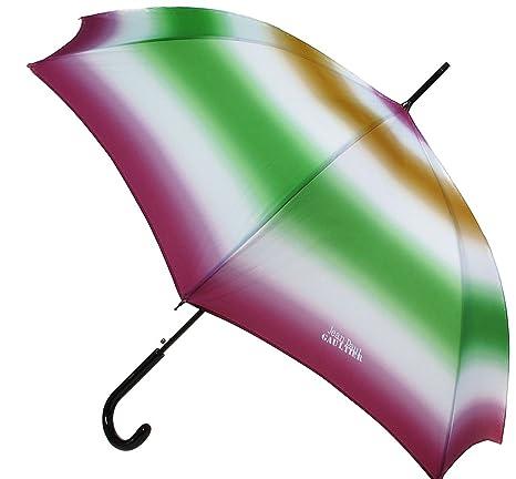 Paraguas, color verde degradado, color rosa