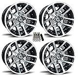 Fairway Alloys 10'' Illusion Gloss Black Golf Cart Wheels/Rims EZ-GO/Club Car (4)