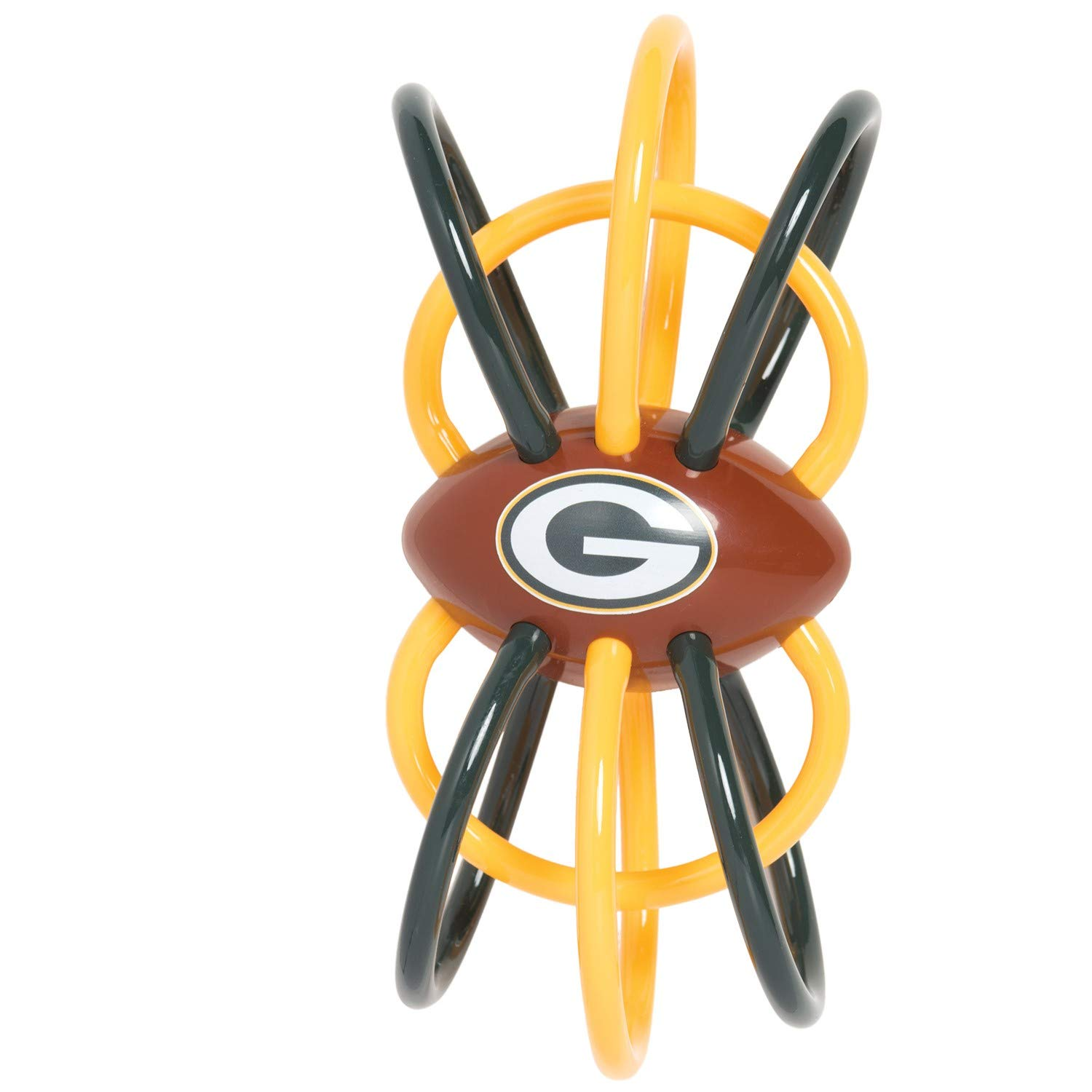 Baby Fanatic Green Bay Packers Winkel Rattle Teether Officially Licensed NFL Baby Toy