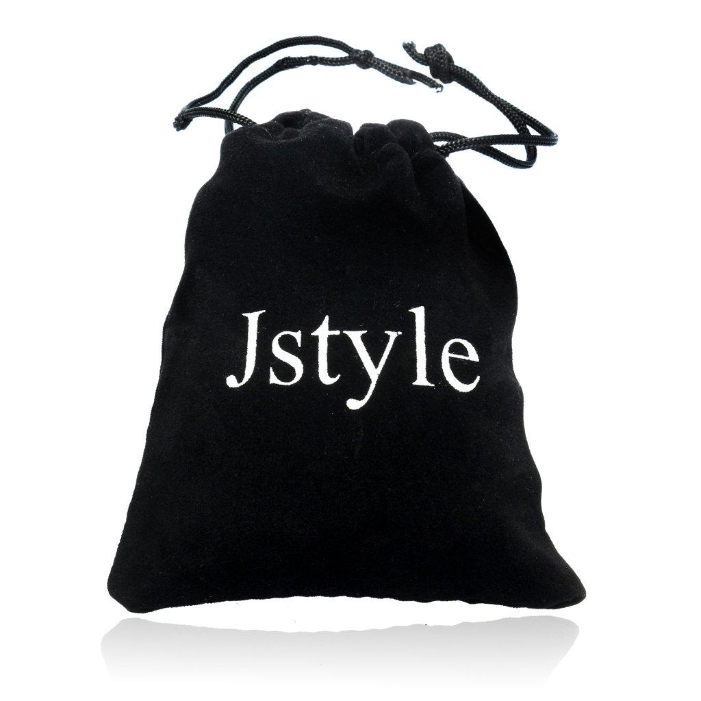 Jstyle Bijoux Boucle doreilles Noire en Acier Inoxydable Unisexe pour Homme et Femme 3mm-8mm