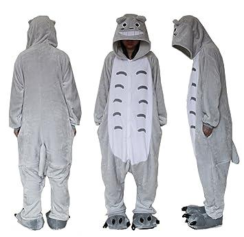 Forro Polar superior al aire libre Totoro Onesie traje de Cosplay capuchas/Unisex pijamas/