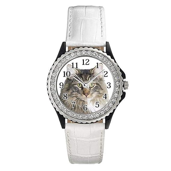 Timest Del Noruego Para Mujer Bosque Con Gato Cuero Reloj 8P0knOw