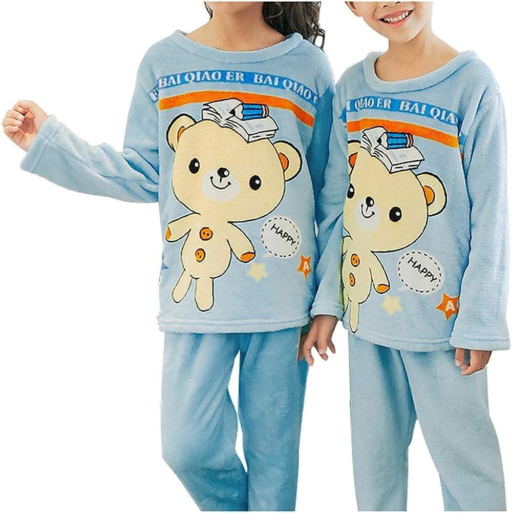 Smibra Kids Cartoon Sleepwear Boys Girls Sleepwear