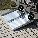 Olymstore 2 ft Portable Aluminum Folding Ramp for Wheelchair Scooters Pet Emergency Hospital - Briefcase Mobility,Non Slip,Home Utility