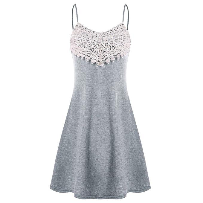 Ghazzi Women Dresses, Fashion Crochet Lace Mini Dress for Ladies Sundress Beach Party Evening Swing Dress at Amazon Womens Clothing store: