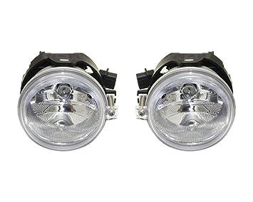 New Set of 2 Fog Light Trims Lamps Driver /& Passenger Side LH RH for Dodge Pair