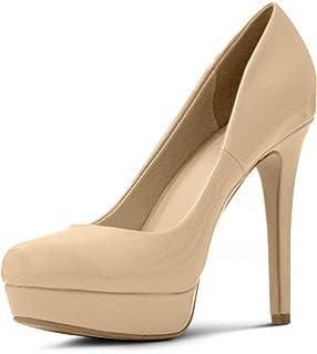 c9309a51e5e MARCOREPUBLIC Johannesburg Almond Toe High Heels Platform Shoes Stiletto  Dress Pumps