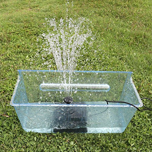 Scopow new generation solar powered water bird bath for Solar water filter for ponds