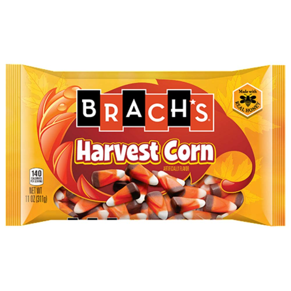 Brach's Harvest (Indian) Candy Corn - 11 ounce Bag (6 Pack) by All City Candy
