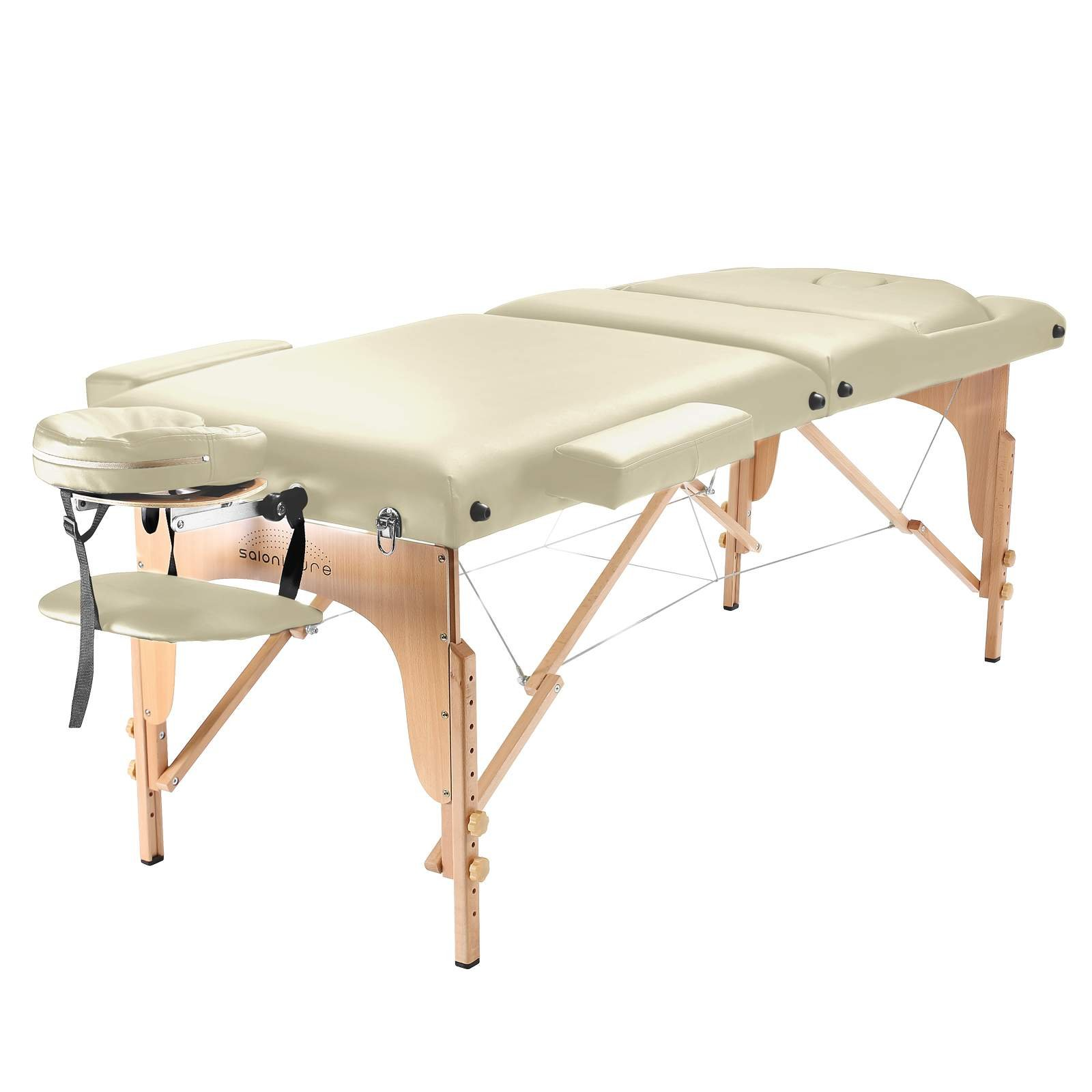 Saloniture Professional Portable Massage Table with Backrest - Cream by Saloniture (Image #2)
