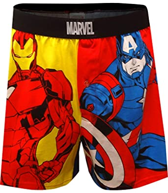 d2796f06cf81 Mad Engine Black Panther and Captain America Avengers Boxer Shorts For Men ( Small)