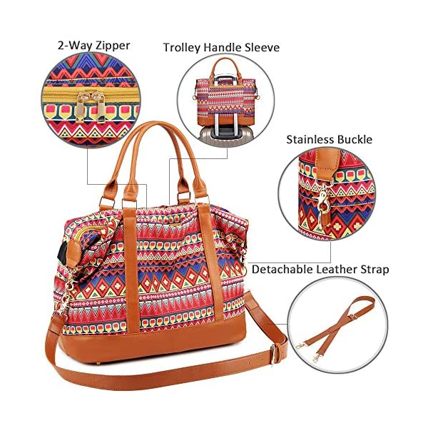 Borsone da viaggio weekend Borsa da palestra handbag Tote da borsa sportiva con porta USB Borsa tote per laptop comoda… 4 spesavip