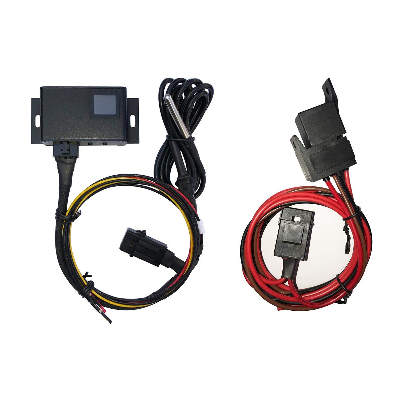 Adjustable Car Fan Controller LITROK Digital Temperature Control Switch Kit