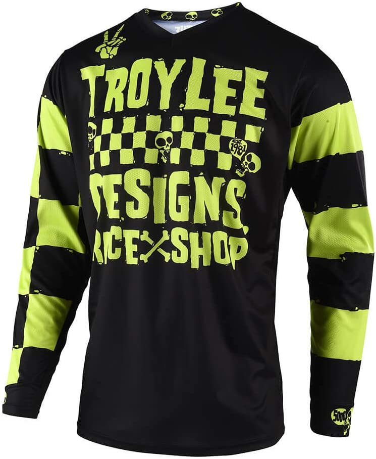 Medium, White//Black Troy Lee Designs Youth Kids Offroad Motocross GP Carlsbad Jersey