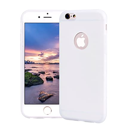 Funda iPhone 6, Carcasa iPhone 6S Silicona Gel, OUJD Mate Case Ultra Delgado TPU Goma Flexible Cover para iPhone 6/6S - Blanco