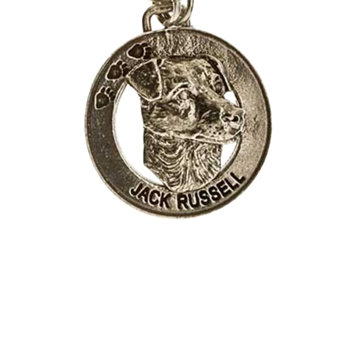 Creative Pewter Designs, Pewter Jack Russel Terrier Key Chain, Antiqued Finish, DK106 by Creative Pewter Designs (Image #1)