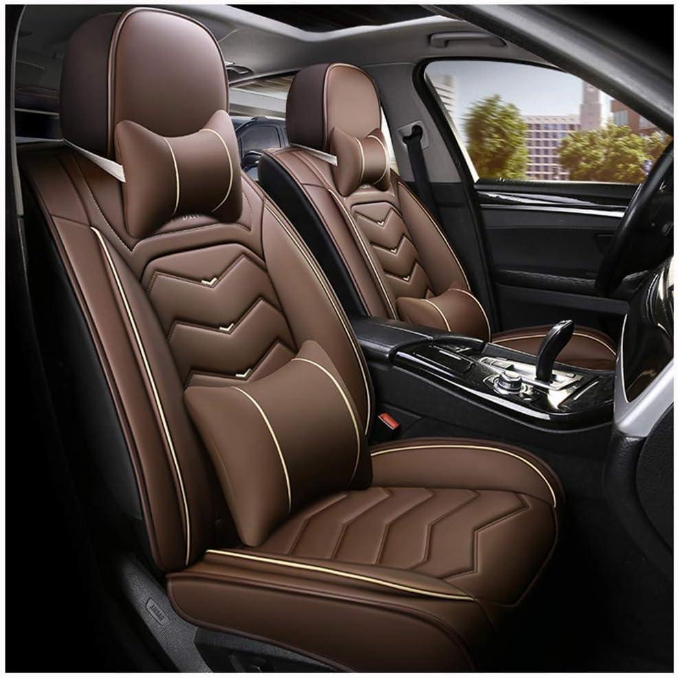 Compatible/avec Fiat/500X,500L,Ford/Escape,C-Max/Energi ZMCOV Housse De Siege De Voiture en Cuir Imperm/éable Respirant 5-Si/ège Si/ège Voiture Couvertures Protecteur De Si/ège De Voiture