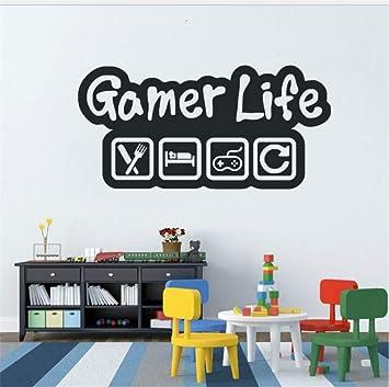 Waofe Gamer Life Etiqueta De La Pared Controlador De Juego De ...