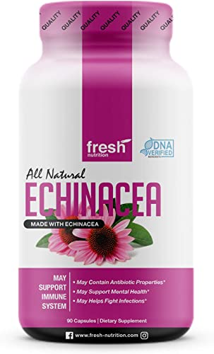 Echinacea – Strongest DNA Verified – Healthy Immune System, Physical Mental Health, Potent Strength for Winter Conditions – Natural Pain Reliever, Anxiety, Depression, Fight Infections- Vegan Safe