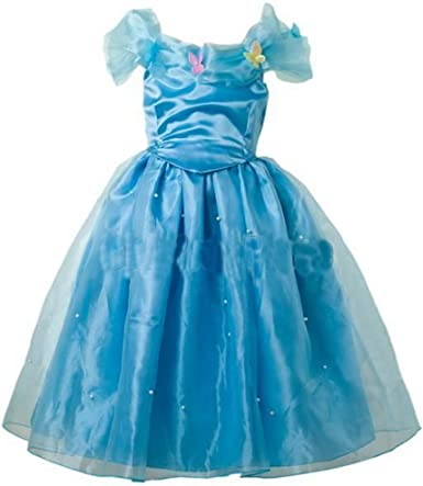 amazon com inspired cinderella girl s deluxe cinderella costume 6 7 yrs clothing amazon com