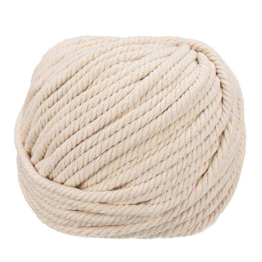 FINCOS 6mm Handmade Natural Cotton Rope Macrame Wall Hangings Plant Hanger Craft Making Knitting Cord Rope - (Color: 6mm x 100meters) by FINCOS (Image #6)