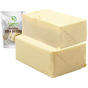 Shea Butter Raw Organic African - 25 lb Wholesale BULK Pure Virgin Unrefined for Body Butter Stretch Mark Eczma Natural Lip Balm Organic Skin Care Scar Cream and Lotion DIY Premium Nature