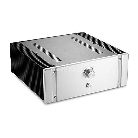 Chasis de aluminio Nobsound para DIY Hifi amplificador House Amplificador clase A de recinto Carcasa de