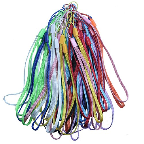 [50PCS PACK] 7-Inch Bulk Colorful Hand Wrist Strap Lanyard for Cell Phone USB Flash Drive Mp3 Mp4 Mini Camera - 50pcs(10 (Lanyards Wholesale)
