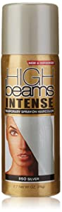 high beams Intense Temporary Spray on Hair Color, Silver, 2.7 Ounce