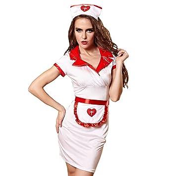 FIZZENN Ropa Interior de Enfermera Sexy para Mujer, Uniforme ...
