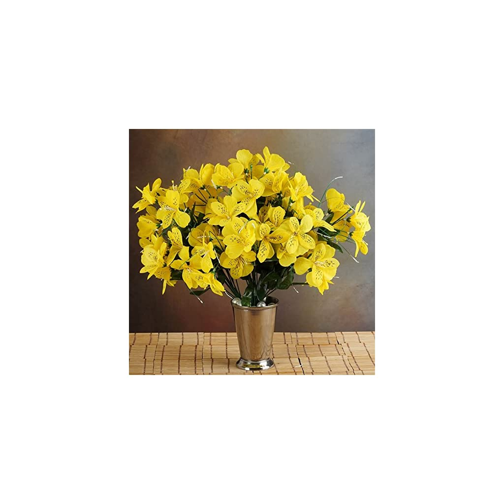 144-Wholesale-Artificial-Silk-Amaryllis-Flowers-Wedding-Vase-Centerpiece-Decor-Yellow