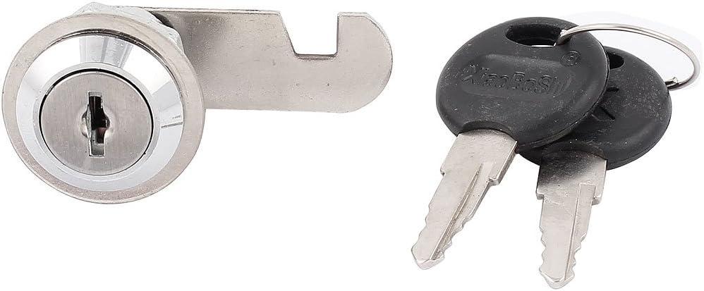 28mm Height Replacemet Mailbox Security Metal Cam Lock w 2 Keys