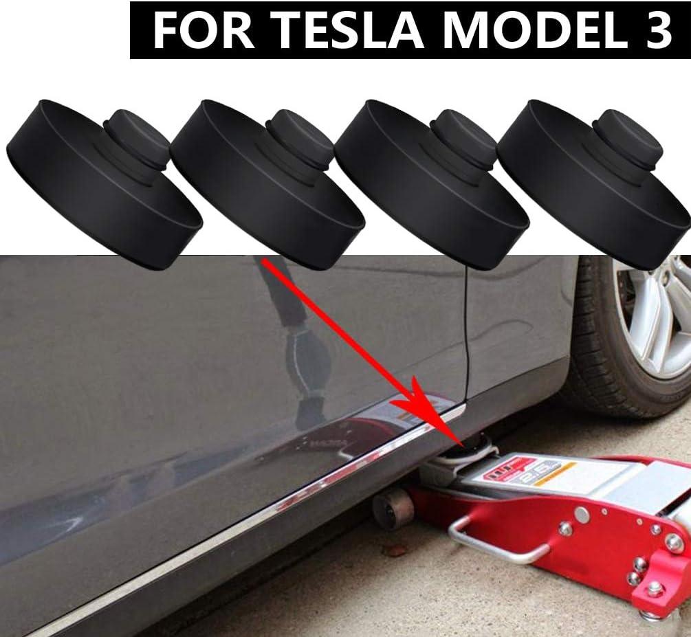 ROCCS Jack Lift Pad for Tesla Model 3 4PCS Jack Pad Jack Points Adapter Pad Tool Prevents Battery Side Skirt Paint Damage
