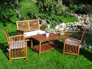 Gartenmöbel holz  Amazon.de: Sitzgruppe Gartengarnitur Gartenmöbel Holz Garten Tisch ...