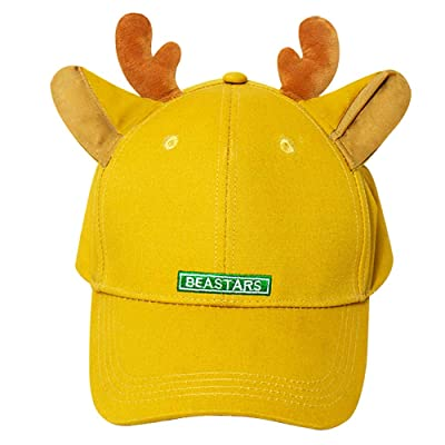 Gankchen Beastars Louis Cosplay Basball Hat Louis Costume Dual Deer Ears Hats Snapback Caps Size Adjustable on The Back Orange Canvas Cap: Clothing