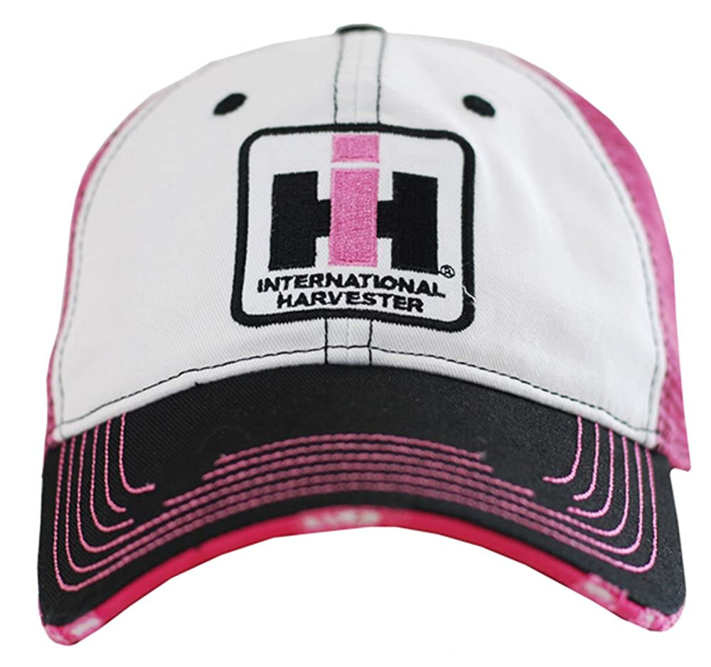 Case IH Two Tone Distressed Trucker Cap Womens Pink 13IH045