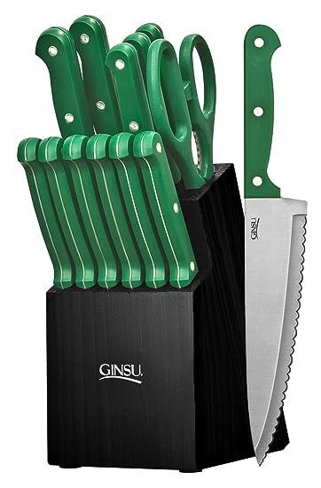 Amazon.com: Ginsu Essential Series 14-Piece Stainless Steel ...