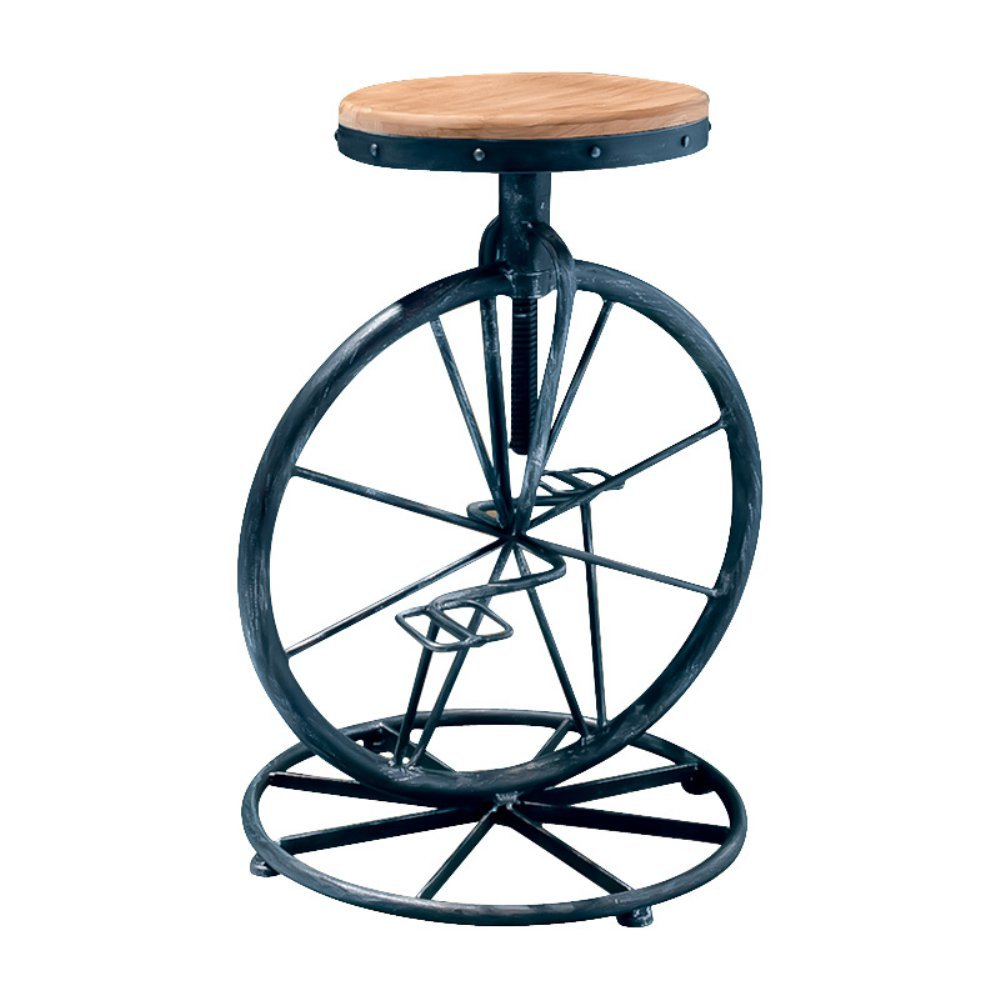 Amazon.com: Best Selling Michael Bicycle Wheel Adjustable Bar Stool:  Kitchen U0026 Dining