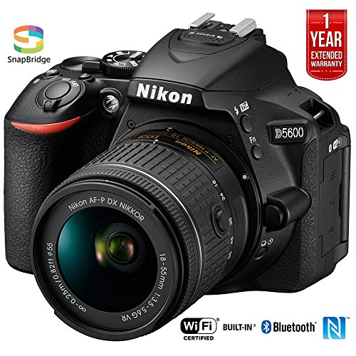 Nikon D5600 Digital SLR Camera & 18-55mm VR DX AF-P Lens - (Renewed)