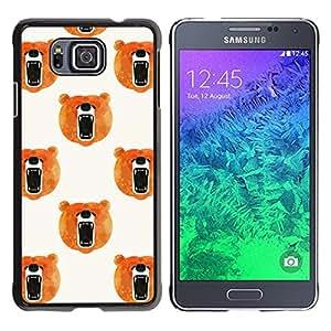 Cubierta protectora del caso de Shell Plástico || Samsung GALAXY ALPHA G850 || Roar Orange White @XPTECH